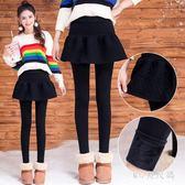 中學生加絨褲冬季大童加厚保暖彈力少女長褲外穿假兩件打底褲裙 QQ17868『MG大尺碼』