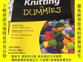 二手書博民逛書店Knitting罕見For Dummies 英文原版 乾淨無筆跡