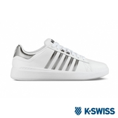 【K-SWISS】Pershing Court Light SE休閒運動鞋-男-白/黑(06318-126)