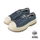 Palladium Pallashock 復古藍色 帆布 厚底5CM 休閒鞋 女款 NO.B1282【新竹皇家 76680-448】