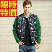 立領外套 太空棉-精緻手繪印花美式男夾克外套65ac32【巴黎精品】
