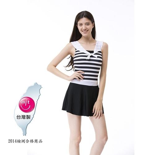 【南紡購物中心】【Bich Loan】情戀連身裙泳裝附泳帽13006101
