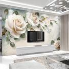 牆紙3D電視背景牆壁紙簡約現代客廳牆紙影...