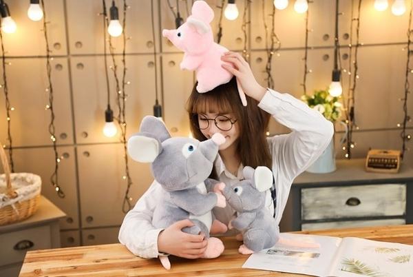 【25公分】情侶鼠娃娃 抱枕 玩偶 聖誕節交換禮物 生日禮物 兒童節禮物 鼠年行大運