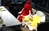 【60公分】卡通仿真早餐店玩偶 荷包蛋 熱狗 生日禮物 聖誕節交換禮物 餐廳布置
