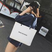 帆布包 包包女2018新款日韓版潮托特包時尚大容量手提包簡約休閒單肩大包 居優佳品