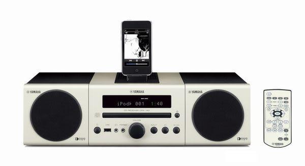 【集雅社】超殺福利出清 YAMAHA MCR-140 小型 iPod/CD 組合音響 無線傳輸.iPod.USB.MP3 (白色) 公司貨