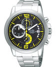 ALBA 雅柏 ACTIVE 街頭時尚計時手錶(VD50-X010Y)-黃時標
