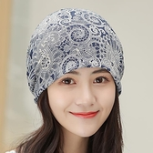 頭巾帽 帽子女韓版薄款鏤空輕薄時尚頭巾帽包頭帽百搭帽空調花朵帽套頭帽 【618 大促】
