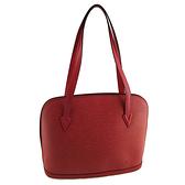 LV 紅色EPI麥穗壓紋肩背大艾瑪包(八五成新)