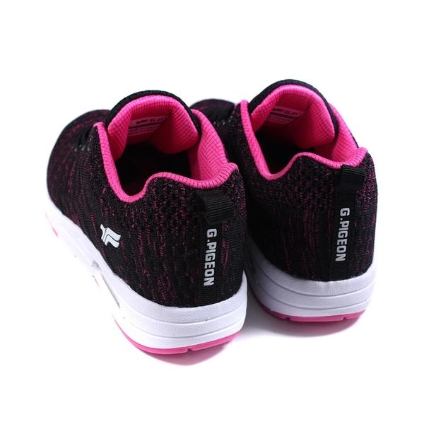 G.P (GOLD PIGEON) 阿亮代言 運動鞋 針織 女鞋 黑/桃紅 P7630W-15 no482
