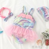 兒童泳衣 女童寶寶嬰兒游泳女孩連體可愛翅膀公主小孩0-1-3歲泳裝『鹿角巷』