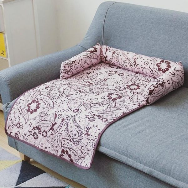 618大促 狗墊子四季可拆洗寵物墊泰迪金毛狗窩夏季狗沙發墊床墊狗籠墊涼席