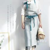 圍裙日式棉麻布藝大款高端時尚家居廚房圍裙手作畫畫餐廳店服定制LOGO