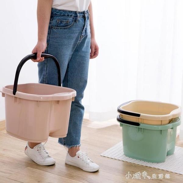 塑膠泡腳盆加熱木桶高筒帶按摩點美甲店足浴家用泡腳桶美甲店專用YQS 小確幸生活館