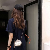 包包女包2019新款夾扣迷你包可愛格子金屬鏈條韓版單肩斜跨口紅包