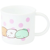 〔小禮堂〕角落生物 日製單耳塑膠小水杯《粉白.點點趴姿》200ml.漱口杯.茶杯 4973307-48258