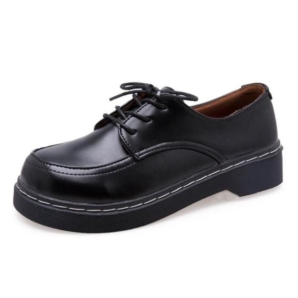 娃娃鞋ins小皮鞋女春季新款韓版百搭學生英倫風復古圓頭平底娃娃鞋 聖誕交換禮物