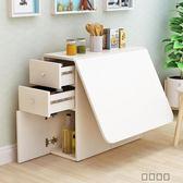 簡約現代小戶型伸縮折疊餐桌長方形移動
