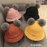 寶寶帽子秋冬季0-1歲嬰兒漁夫帽潮公主韓版2男童女童秋季兒童秋天 卡布奇諾
