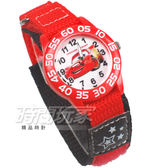 Disney 迪士尼 時尚卡通錶 Disney 閃電麥坤 汽車總動員 帆布休閒 造型錶 男錶 紅色 D7-1047C帆