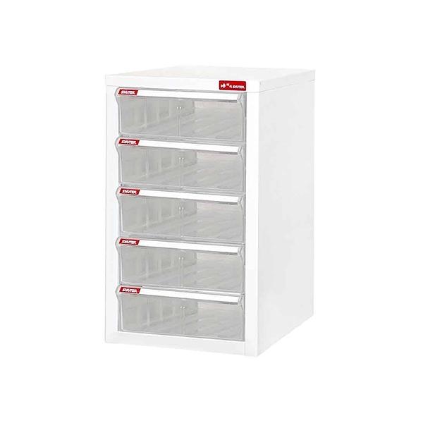 樹德櫃鋼鈑A4資料櫃5格加高抽屜櫃桌上型文件櫃A4-105H-大廚師百貨