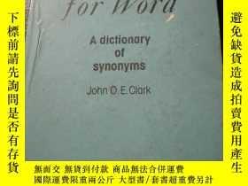 二手書博民逛書店WORD罕見for word英語同義詞詞典 748-2Y1041