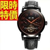 機械錶-陀飛輪鏤空帥氣潮流男手錶3色54t19【時尚巴黎】