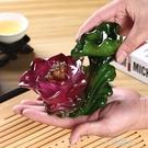 變色茶寵荷花金蟾創意家居擺件功夫茶具茶盤茶寵物茶玩茶道零配件  一米陽光