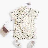 熊貓御飯糰滿版浴衣包屁衣 哈衣 兔裝 包屁衣 連身包屁衣 短袖上衣 童裝
