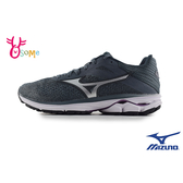 Mizuno美津濃 成人女款 WAVE RIDER 23 WIDE 慢跑鞋 運動鞋 H9289#灰色◆OSOME奧森鞋業