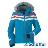 德國 SCHOFFEL 女 專業防雪保暖 透氣附毛外套 水藍 1011204