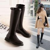 膝上靴靴子女秋季冬季2020新款長靴百搭韓版皮靴平底高筒長筒馬靴騎士靴 童趣