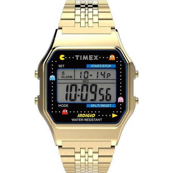 【TIMEX】天美時 Pac-Man 小精靈電子錶 (金 TXTW2U32000)