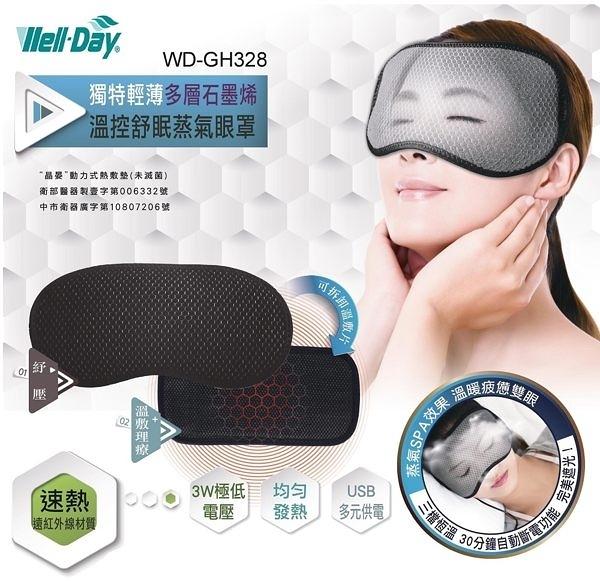 元氣健康館 WELL-DAY晶晏動力式熱敷墊 石墨烯熱敷眼罩WD-GH328