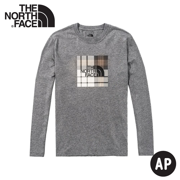 【The North Face 男 L/S UPDATED CLEAN ASCENT T恤《灰》】4NEW/排汗衣/圓領長袖