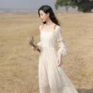 春裝2021年新款女氣質溫柔風仙女裙甜美法式雪紡碎花洋裝長裙子 設計師