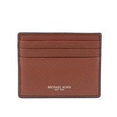 【MICHAEL KORS】Harrison皮革6卡名片/卡片夾(焦糖色) 36U9LHRD1L LUGGAGE