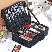 化妝箱 化妝包女便攜ins手提大容量多層專業化妝品收納美甲紋繡工具箱