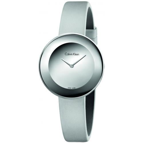 【時間道】Calvin Klein | CK時尚簡約仕女腕錶/鏡面銀緞(K7N23UP8)免運費
