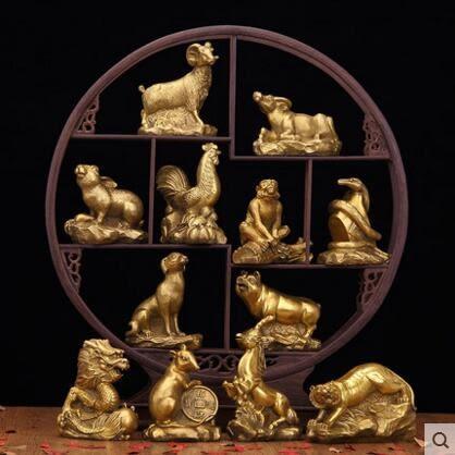 開光純銅十二生肖擺件 家居飾品 風水工藝品擺設