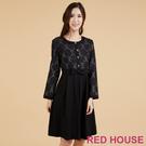 RED HOUSE-蕾赫斯-優雅玫瑰條紋...