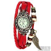 LSVTR石英編織時裝復古女錶皮手鏈錶學生韓國個性時尚潮流手錶【萊爾富免運】
