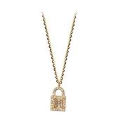 925純銀項鍊+鋯石吊墜-鎖扣滿鑽璀璨精緻女飾品2色74aq41【巴黎精品】