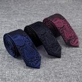 領帶男正裝韓版5/7cm英倫休閒黑色懶人拉鏈學生襯衫裝飾小領帶潮