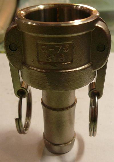 水用快速接頭 C型 1-1/2英吋 HOS母插芯 材質:白鐵304# 台灣製造