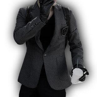 毛呢西裝 男士西服 韓版修身西裝