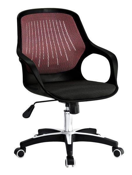 【森可家居】時尚黑色辦公椅 7JX287-3 電腦椅