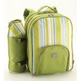 野餐包 含2人餐具組-藍綠雙款雙人實用保溫保鮮露營雙肩後背包68ag12[時尚巴黎]