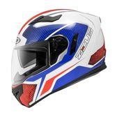 [東門城] ZEUS ZS813  AN12 白紅藍 全罩式安全帽 內藏式鏡片 內襯全可拆洗
